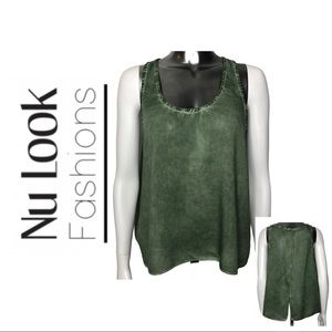 BNWT Nu Look Fashions Olive Green Sleeveless Tunic